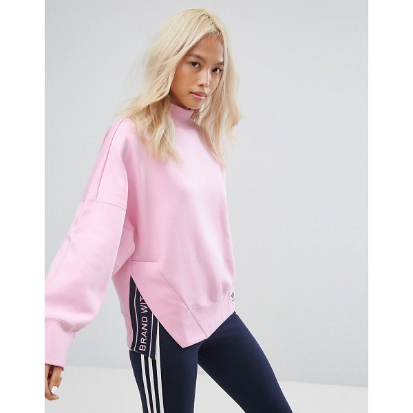 "ADIDAS adidas Originals High Neck Sweatshirt In Pink - """"Sweatshirt by Adidas, Soft-touch sweat, High neck,..."