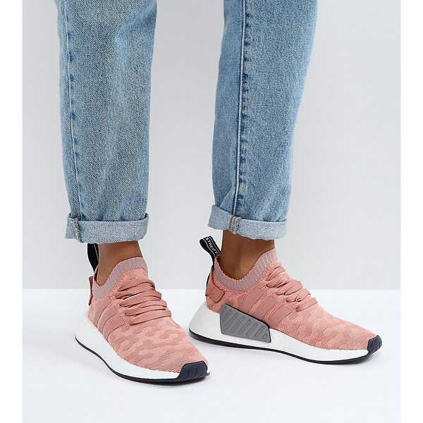 ADIDAS NMD R2 Sneakers In Pink - Sneakers by adidas, Breathable knitted upper, Lace-up...