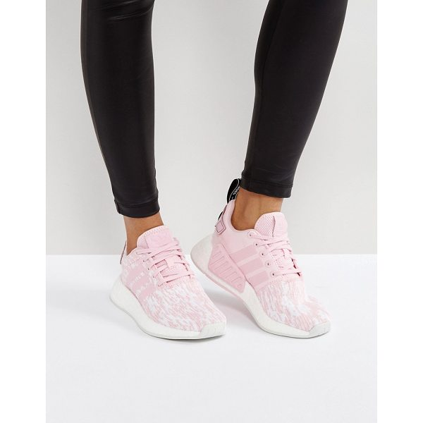 ADIDAS NMD R2 Sneakers In Pale Pink - Sneakers by Adidas, Breathable mesh upper, Lace-up...