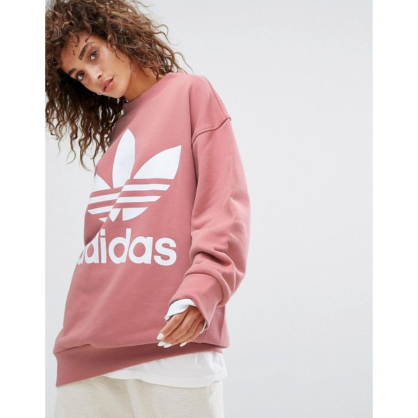 "ADIDAS adidas Originals Oversized Sweatshirt In Pink - """"Sweatshirt by Adidas, Soft-touch sweat, Crew neck,..."