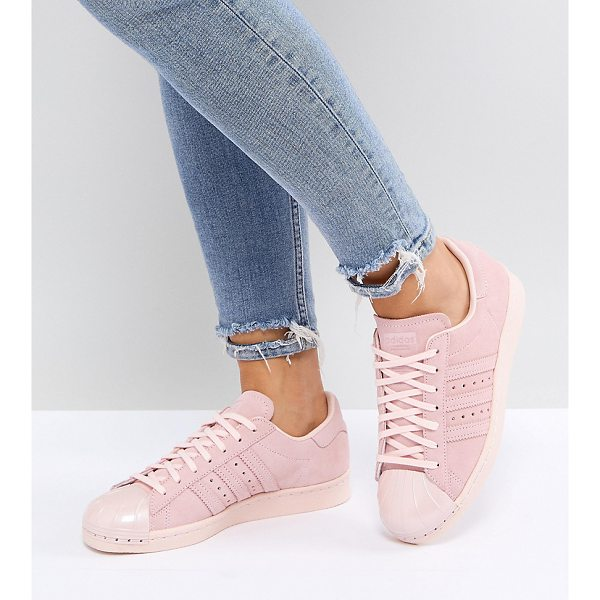 ADIDAS adidas Originals Pink Superstar 80S Sneakers With Metal Toe Cap - Sneakers by adidas, Genuine leather upper, Lace-up design,...