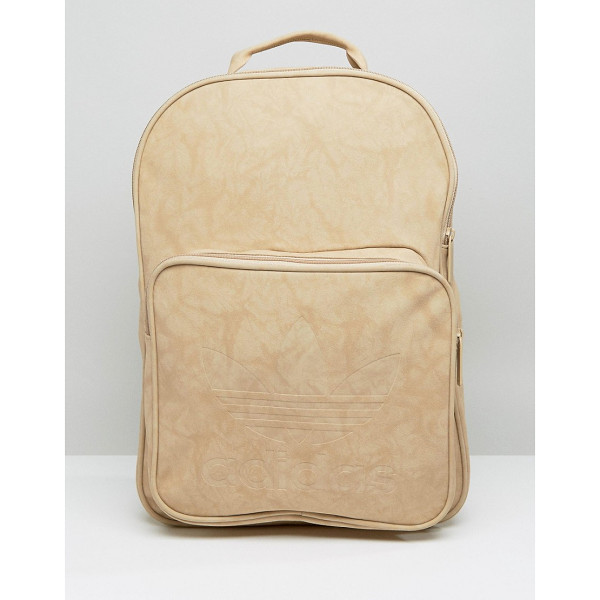 ADIDAS adidas Originals Premium Clean Logo Backpack - Backpack by Adidas, Faux-leather outer, Smooth lining,...