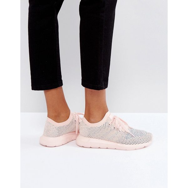 ADIDAS adidas Originals Swift Run Primeknit Sneakers In Pale Pink - Sneakers by adidas, Breathable Primeknit upper, Sock-like...