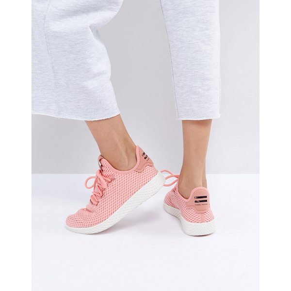 ADIDAS X Pharrell Williams Tennis HU Sneakers In Pink - Sneakers by Adidas, Designed in collaboration with Pharrell...