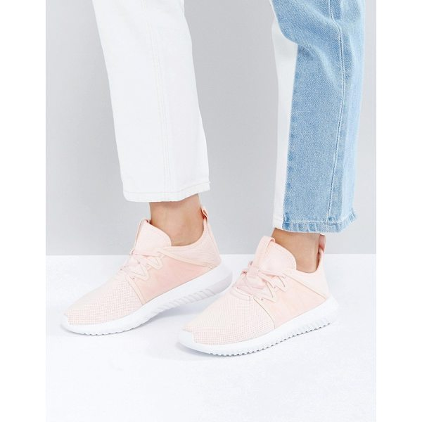 ADIDAS Tubular Viral Sneaker In Pale Pink - Sneakers by Adidas, Breathable mesh upper, Lace-up design,...
