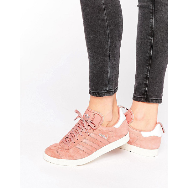 ADIDAS Originals dusky pink ponyskin gazelle sneakers - Sneakers by Adidas, Suede upper, Lace-up fastening, Padded...