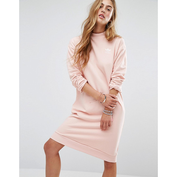 ADIDAS adidas Originals Pastel Camo Sweat Dress - Dress by Adidas, Soft-touch sweat, High neckline, Dropped...