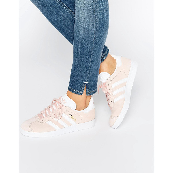 ADIDAS Originals pink suede gazelle sneakers - Sneakers by Adidas, Suede upper, Faux-leather overlays,...