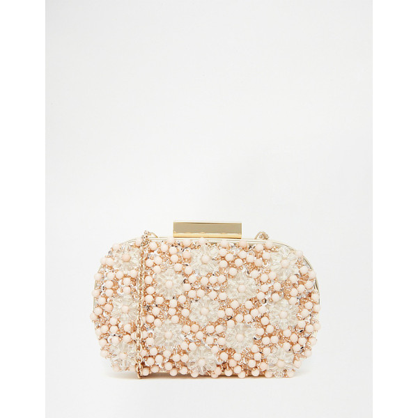 ALDO Beaded Box Clutch - Clutch bag by ALDO, Embellished outer, Fully lined,...
