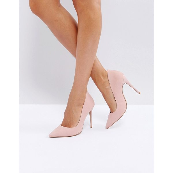 "ALDO Cassedy Blush Point Pumps - """"Heels by ALDO, Faux-suede upper, Slip-on style, Pointed..."