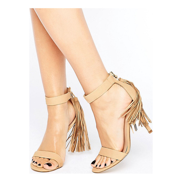 ALDO Celena Tassle Heel Sandal - Shoes by ALDO, Leather upper, Back-zip opening, Tassel...