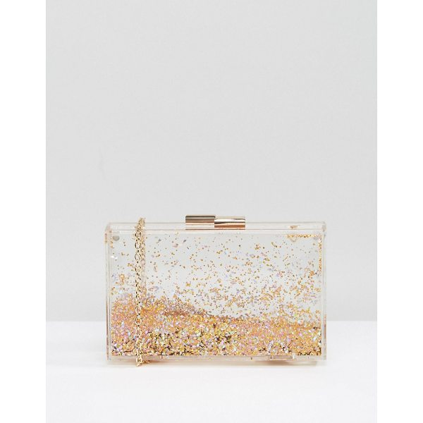 "ALDO Darown Gold Glitter Clutch Bag - """"Clutch bag by ALDO, Faux leather, Fully lined, Gold..."
