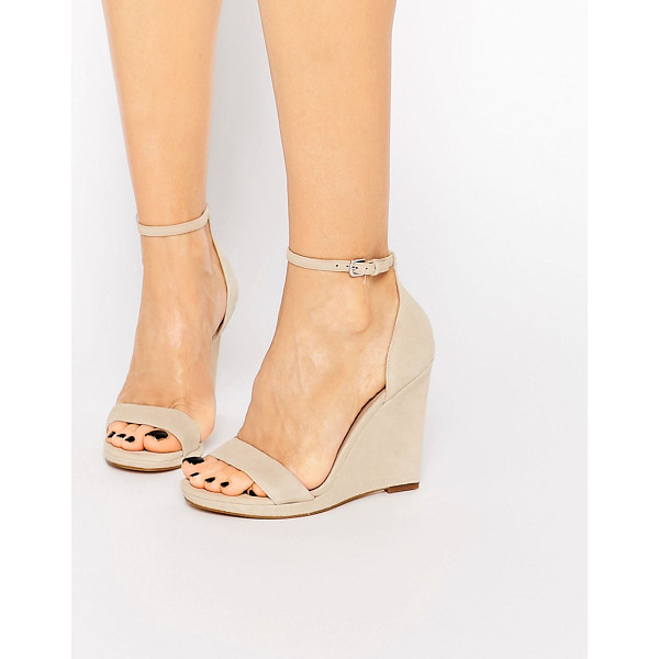 ALDO Elley nude wedge sandals - Wedges by ALDO, Suede upper, Pin buckle ankle strap, High...