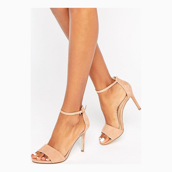 ALDO Fiolla Ankle Strap Suede Heeled Sandals - Shoes by ALDO, Suede upper, Ankle-strap fastening, Open...