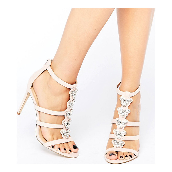 ALDO Leisi Jewel Front Heel Sandal - Shoes by ALDO, Faux-leather upper, Back zip opening, Front