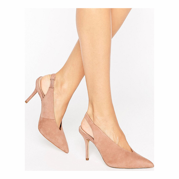 "ALDO Minett Point Slingback Heeled Shoes - """"Shoes by ALDO, Suede upper, Sling back strap, Pointed..."