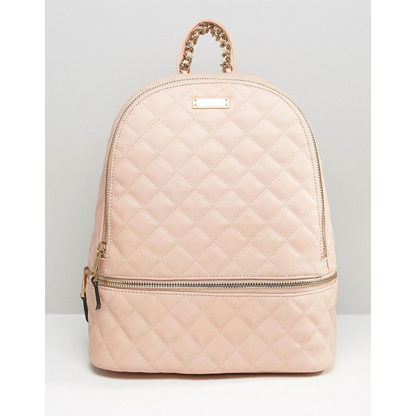 ALDO Quilted backpack in blush - Backpack by ALDO Faux leather outer Quilted finish Fully...