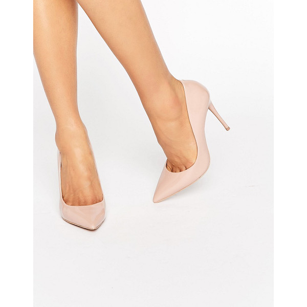 ALDO Stessy Nude Point Pumps - Shoes by ALDO, Faux leather upper, Patent finish, Slip-on