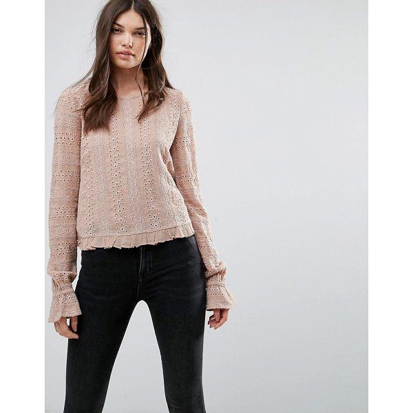 """ALLSAINTS Dakota Long Sleeved Top - """"""""Top by AllSaints, Smooth woven fabric, Round neck,..."""