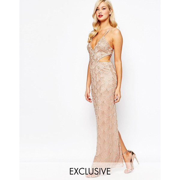 AMELIA ROSE All over embellished cut out maxi dress - Maxi dress by Amelia Rose Sequin embellished mesh Fully...