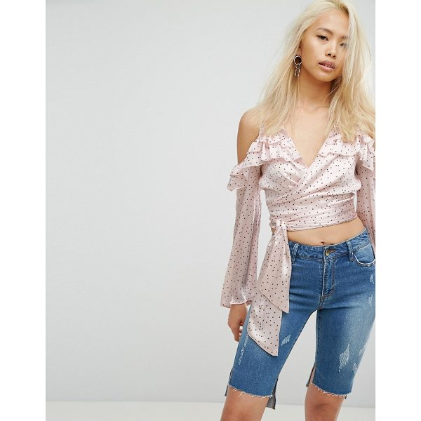 """ARRIVE Cold Shoulder Top With Star Print - """"""""Top by Arrive, Lightweight woven fabric, Polka dot print,..."""