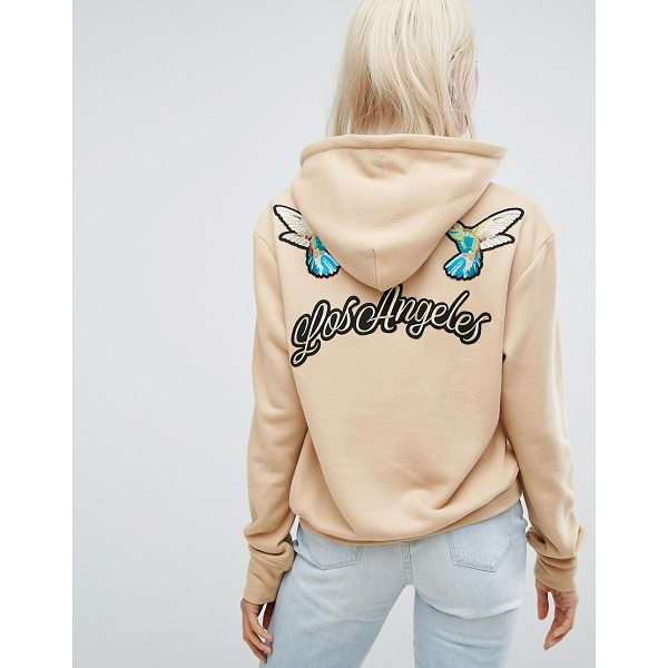"""ARRIVE Hoodie with Embroidered back Detail - """"""""Hoodie by Arrive, Soft-touch sweat, Drawstring hood,..."""