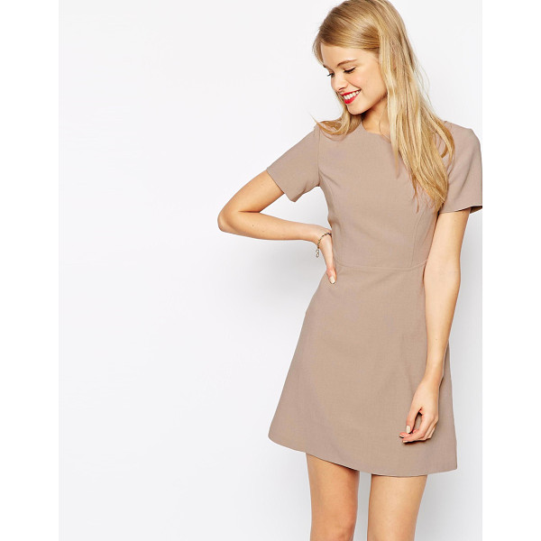 ASOS 60s skater dress with seam detail - Skater dress by ASOS Collection, Soft-touch woven fabric,...
