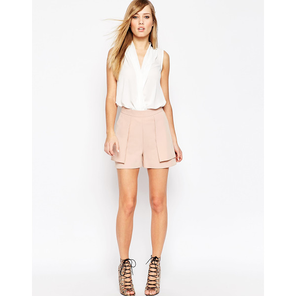 ASOS A-line short with overlay - Shorts by ASOS Collection, Stretch woven, High-rise waist,...