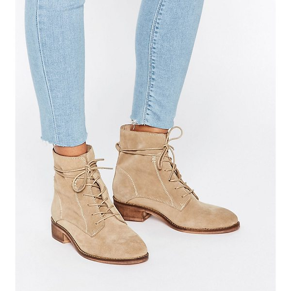 ASOS ALIZA Suede Lace up Ankle Boots - Boots by ASOS Collection, Suede upper, Lace-up fastening,...
