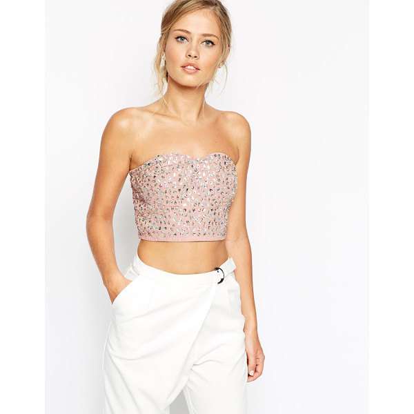 ASOS All over embellished bandeau - Top by ASOS Collection All over statement embellishment...