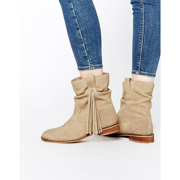 ASOS ALOOK Suede Fringing Boots - Boots by ASOS Collection, Suede upper, Pull-on style, Side...