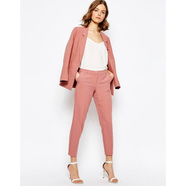 """ASOS Ankle Grazer Cigarette Pants in Crepe - """"""""Pants by ASOS Collection, Unlined crepe, Mid-rise waist,..."""