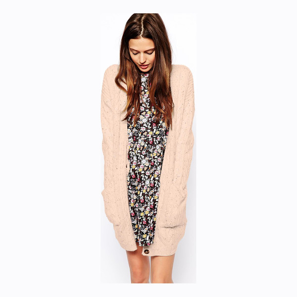 ASOS Aran cardigan in longer length - Cardigan by ASOS Collection Made from a chunky cable knit...
