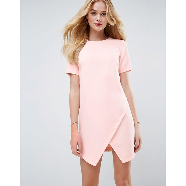 """ASOS Asymmetric Clean Shift Dress with Short Sleeve - """"""""Dress by ASOS Collection, Lightweight woven fabric, Crew..."""