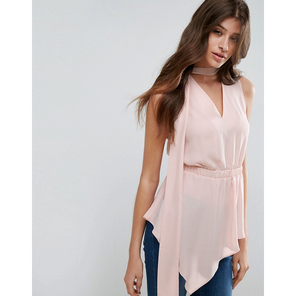 """ASOS Asymmetric Sleeveless Top with Scarf Detail - """"""""Top by ASOS Collection, Lightweight woven fabric,..."""