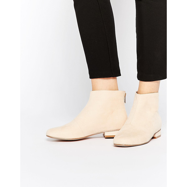 ASOS ATLANTIC Ankle Boots - Boots by ASOS Collection, Suede-look upper, Zip through...