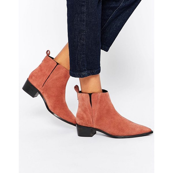 ASOS AVA Suede Pointed Chelsea Boots - Boots by ASOS Collection, Suede upper, Back tab,...