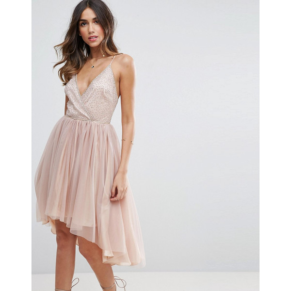 "ASOS Ballerina Mesh Sparkle Tulle Midi Dress - """"Dress by ASOS Collection, Embellished mesh top, Fully..."