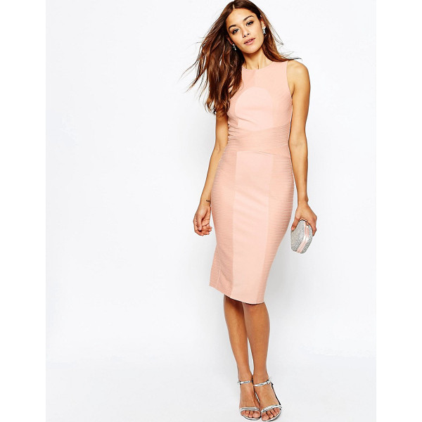 ASOS Bandage High Neck Midi Bodycon Dress - Body-Conscious dress by ASOS Collection, Textured knitted...