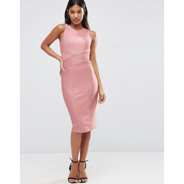 ASOS Bandage High Neck Midi Bodycon Dress - Body-Conscious dress by ASOS Collection, Firm-stretch