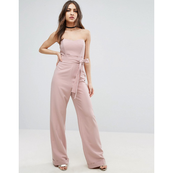 """ASOS Bandeau Jumpsuit with Paperbag Waist Detail - """"""""Jumpsuit by ASOS Collection, Woven fabric, Sweetheart..."""
