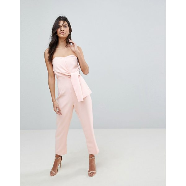 ASOS Bandeau Jumpsuit with Tie Detail - Jumpsuit by ASOS Collection, Dress to distract, Strapless...