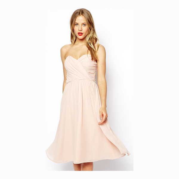 ASOS Bandeau midi dress - Hand Wash Only. Bodice: 100% Polyester Lining: 100%...