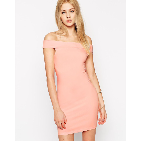 ASOS Bardot body-conscious mini dress - Dress by ASOS Collection Stretch jersey fabric Off shoulder...