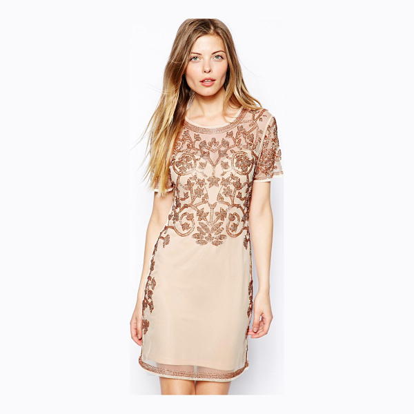 ASOS Baroque embellished shift dress - Hand Wash Only. Shell: 100% Polyester Lining: 100%...