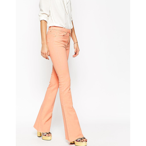 ASOS Bell flare jeans with raw hem - Flare jeans by ASOS Collection, Firm-stretch denim,...