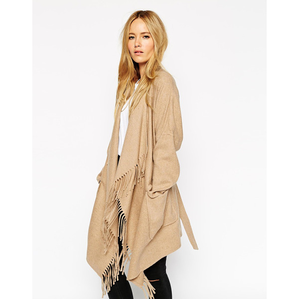 ASOS Blanket wrap coat - Blanket wrap by ASOS Collection Mid-weight wool-blend Open...