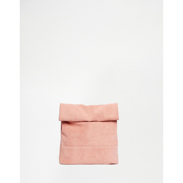 ASOS Blocked oversized clutch bag - Clutch bag by ASOS Collection Real suede outer Contrast...