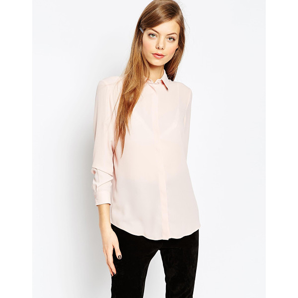 ASOS Blouse - Blouse by ASOS Collection, Lightweight chiffon, Point...