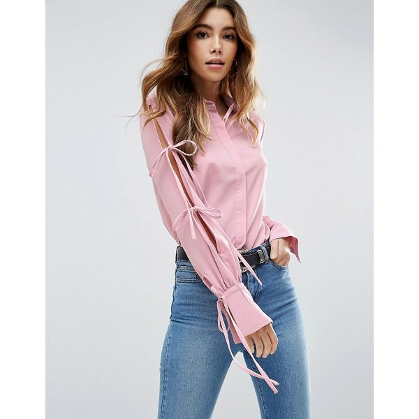 """ASOS Blouse With Tie Detail Sleeves - """"""""Blouse by ASOS Collection, Lightweight woven fabric,..."""